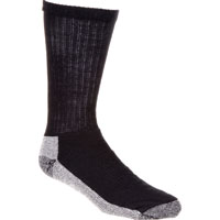 Georgia Boot Reinforced Crew Sock, BLACK, medium