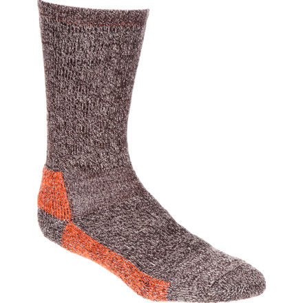 Georgia Boot Merino Lambs Wool Crew Sock, Mocha, large