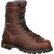 Georgia Boot AMP LT Logger Composite Toe Low Heel Waterproof Work Boot