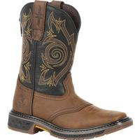 Georgia Boot Carbo-Tec Big Kids Pull-On Saddle Boot, , medium