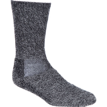 Georgia Boot Merino Lambs Wool Crew Sock, Graphite, large