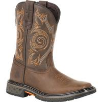 Georgia Boot Carbo-Tec Big Kids Brown Pull-On Boot, , medium