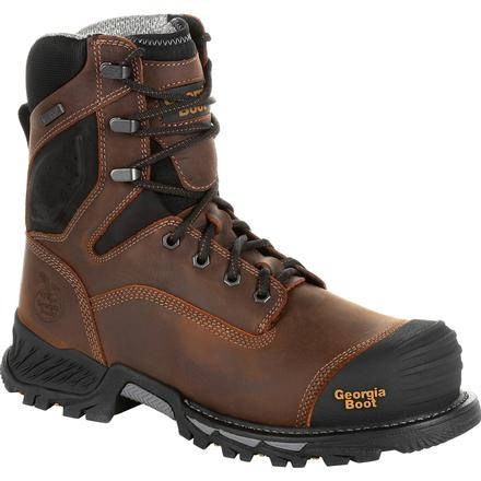 f48cacdec24 Georgia Boot Rumbler 8inch Composite Toe Waterproof Work Boot