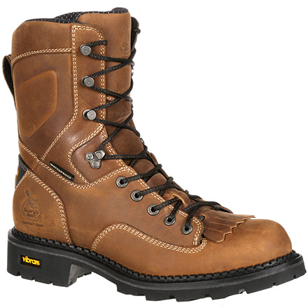 Georgia Boot Comfort Core Waterproof Low Heel Logger Work Boot