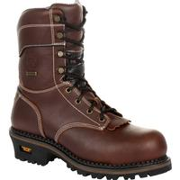 Georgia Boot AMP LT Logger Composite Toe Waterproof Insulated Work Boot, , medium