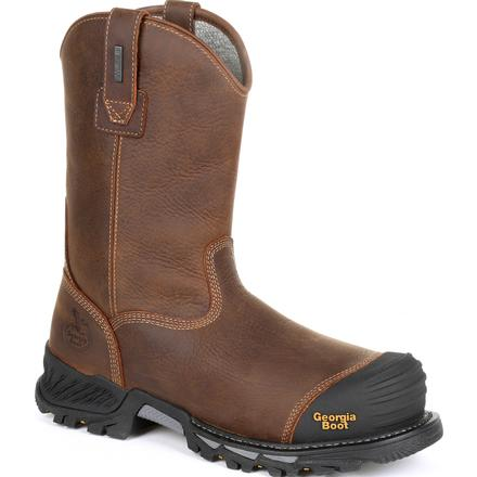 Georgia Boot Rumbler Composite Toe Waterproof Pull-on Work Boot